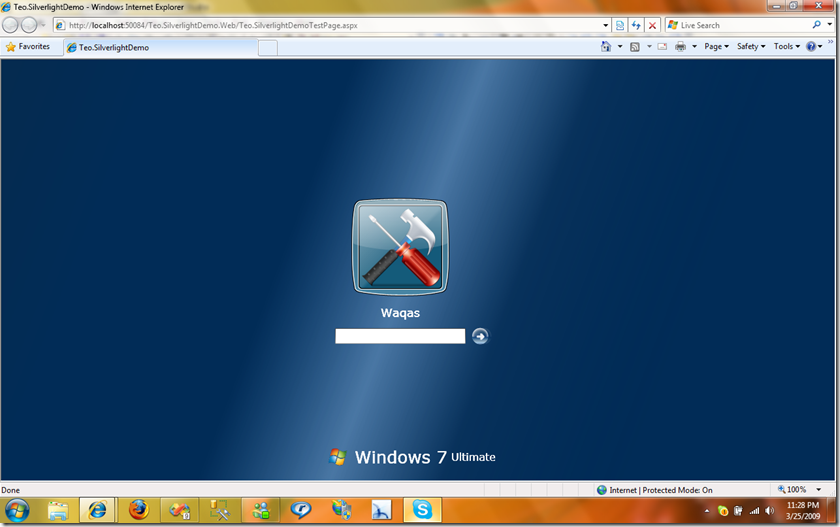 Windows 7's Desktop Simulation in Silverlight!