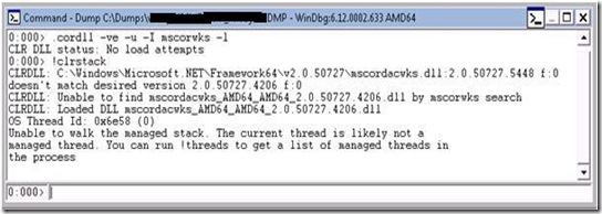 WinDBG: How to load specific version of mscordacwks dll for