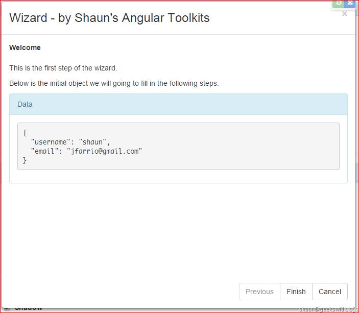 Angular Directive: Wizard in bootstrap modal