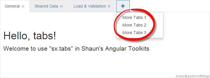 Angular Toolkits: Customizable Bootstrap Tabs