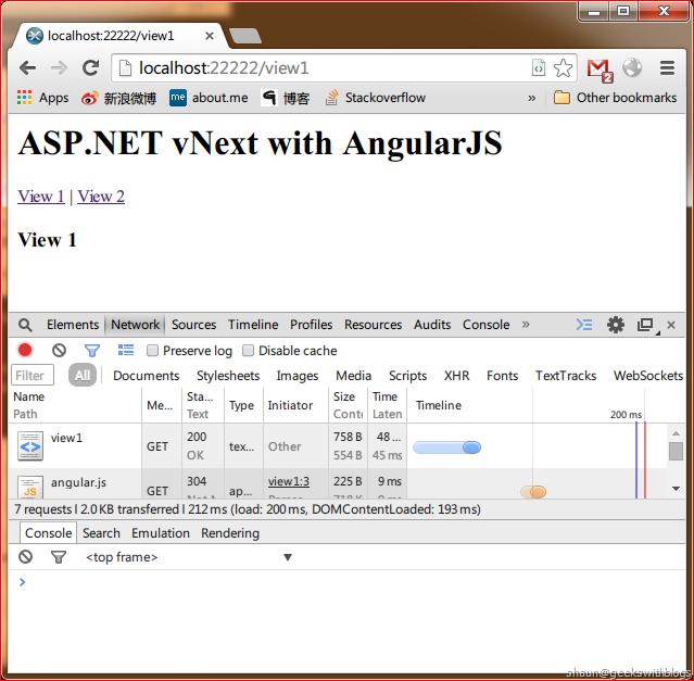 Host AngularJS (Html5Mode) in ASP NET vNext