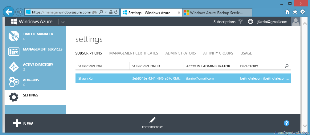 Where's My Windows Azure Subscriptions