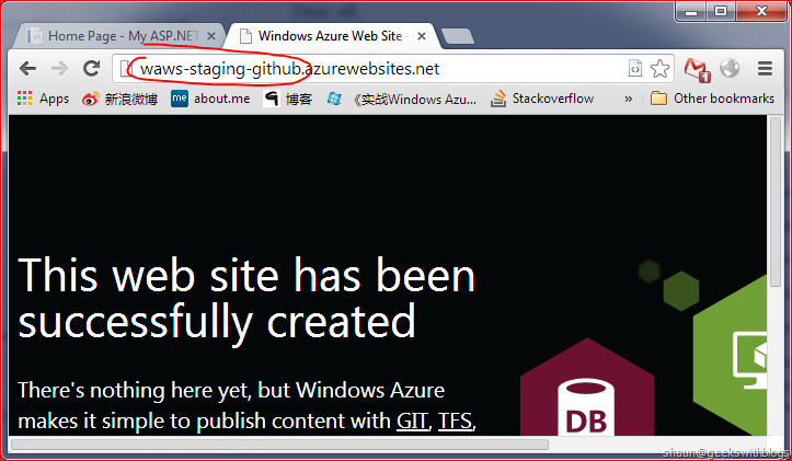 Windows Azure Website Staging Feature and GitHub Integration