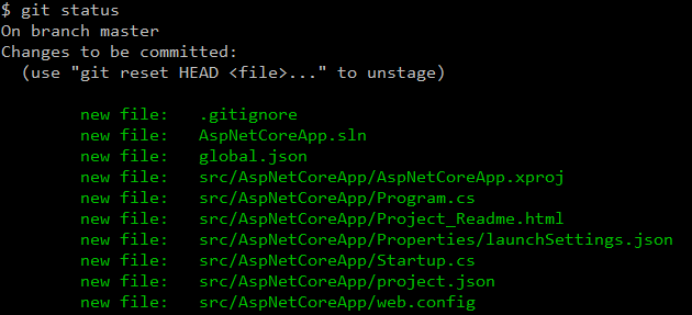 Git repository files