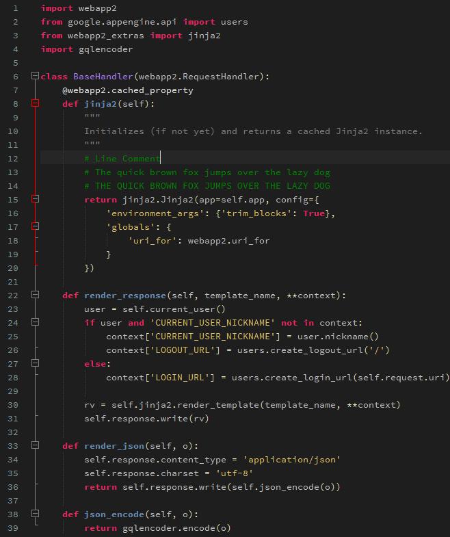 Python theme