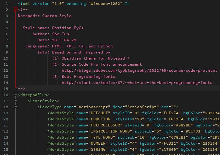 XML Theme
