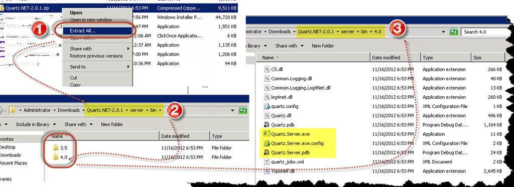 Install Quartz Net as a windows service and Test installation