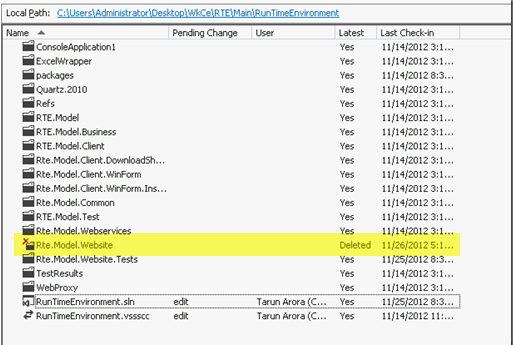 How to undelete files in TFS