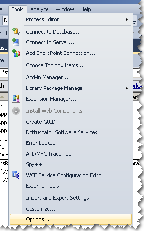 How To Change compare merge tool in TFS?