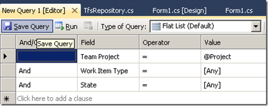 TFS 2010 SDK: Get Projects, Iterations, Area Path, Queries and Work