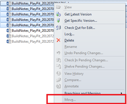 Visual Studio Tip Move Multiple Files using Move command