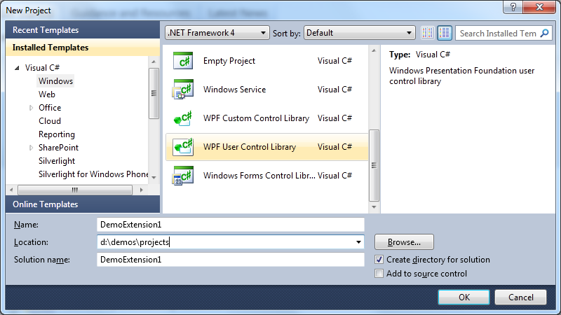 Building extensions for Expression Blend 4 using MEF