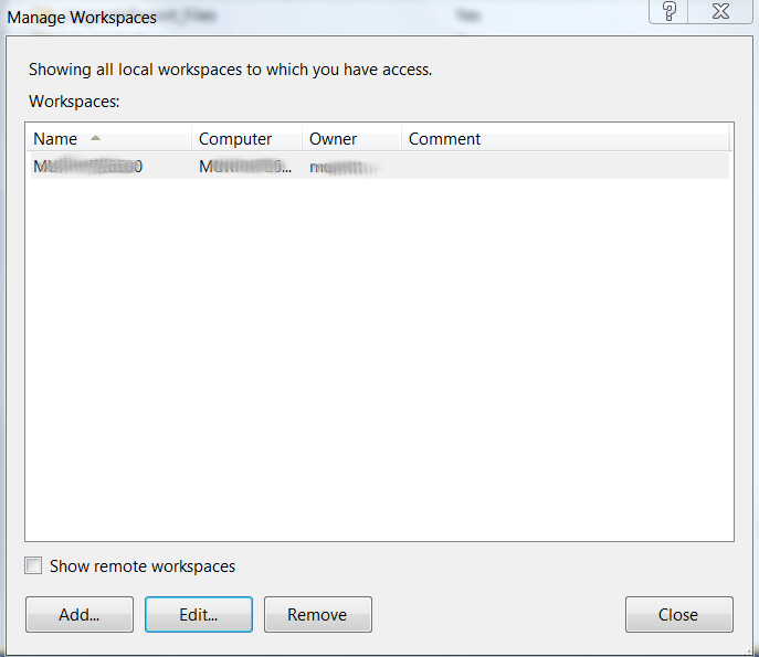 Changing Team Foundation Server 2010 Workspace Mappings