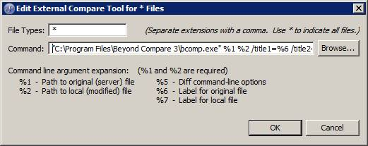 Using Beyond Compare with TFS in My Eclipse