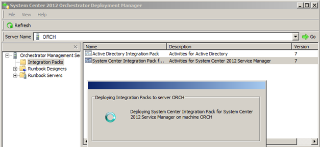 SCSM and Orchestrator 2012 integration