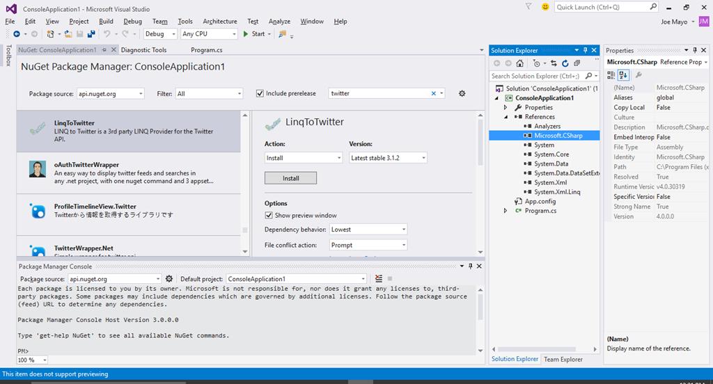 Visual Studio 2015 Custom Window Layouts