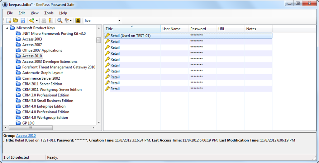 MSDN / TechNet Key Importer for KeePass 2